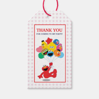 Sesame Street | Elmo and Pals - Birthday Balloons Gift Tags