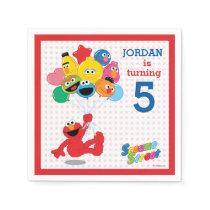 Sesame Street | Elmo and Pals - Birthday Balloons Paper Napkin