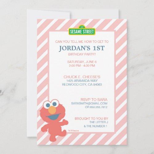 Sesame Street  Elmo _ Baby Birthday Invitation