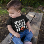 """Sesame Street   Elmo - Birthday Boy Baby T-Shirt<br><div class=""""desc"""">Customize this super cute Elmo Birthday Boy t-shirt with your chilld's name and age. This is the perfect party t-shirt for the birthday boy.   © 2021 Sesame Workshop. www.sesamestreet.org</div>"""