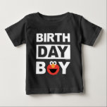 "Sesame Street | Elmo - Birthday Boy Baby T-Shirt<br><div class=""desc"">Customize this super cute Elmo Birthday Boy t-shirt with your chilld's name and age. This is the perfect party t-shirt for the birthday boy.</div>"