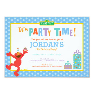 Sesame Street | Elmo - Birthday Cupcake Invitation