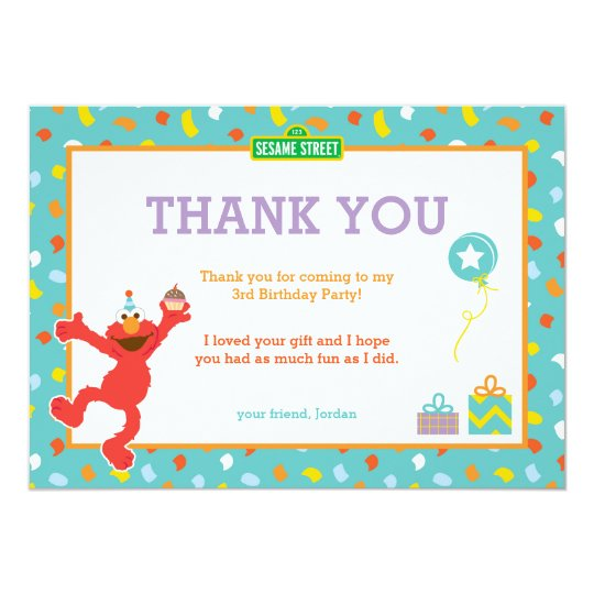 Sesame street elmo confetti birthday thank you invitation sesame street elmo confetti birthday thank you invitation filmwisefo