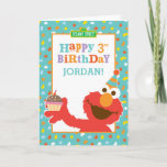 "Sesame Street | Elmo - Cupcake &amp; Confetti Birthday Card<br><div class=""desc"">&quot;Elmo says happy birthday&quot; with this cute colorful design complete with cupcake and confetti. The adorable muppet came all the way from Sesame Street especially to wish you a happy birthday! With his fuzzy red fur, big googly eyes and even bigger heart, the cute little monster is loved by kids...</div>"