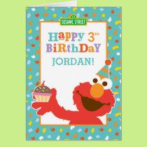 Sesame Street   Elmo - Cupcake & Confetti Birthday Card