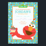 """Sesame Street   Elmo - Cupcake &amp; Confetti Birthday Card<br><div class=""""desc"""">Elmo says: &quot;Happy Birthday!&quot; This cute cartoon is here to promote a very special birthday invitation for your special day. This cuddly, muppet monster is seen here in his classic cartoon form that&#39;s iconic with kids around the world, thanks to Sesame Street. Set against a confetti pattern background, with a...</div>"""