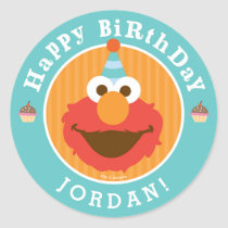Sesame Street | Elmo - Cupcake & Confetti Birthday Classic Round Sticker