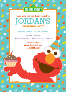 60 off sesame street birthday invitations shop now to save zazzle sesame street elmo cupcake confetti birthday invitation filmwisefo