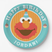Sesame Street | Elmo - Cupcake & Confetti Birthday Paper Plate