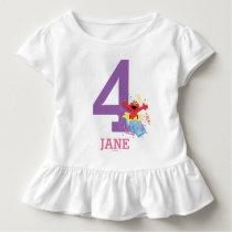 Sesame Street | Elmo Girl's 4th Birthday Toddler T-shirt