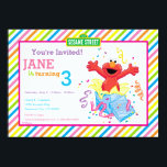 "Sesame Street | Elmo Girl&#39;s Birthday Invitation<br><div class=""desc"">Surprise, its Elmo and this cute, red monster is here to wish you a happy birthday! A colorful invitation design brought to you by Sesame Street. This cartoon character is ready to party and bring the fun thanks to this rainbow inspired background of stripes. A girly look that can be...</div>"