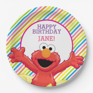 Sesame Street   Elmo Girl's Birthday Paper Plate at Zazzle