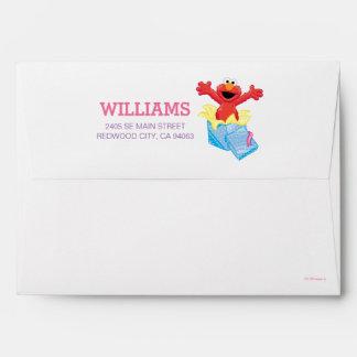 Sesame Street | Elmo Girls Rainbow Striped Envelope