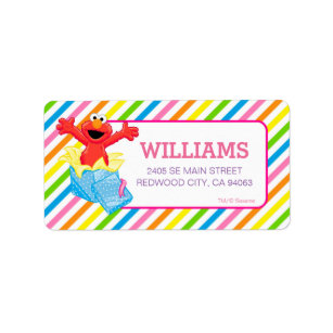 Rainbow Stripes Shipping Address Return Labels