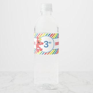Sesame Street | Elmo Neutral Birthday Water Bottle Label