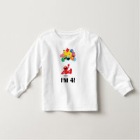 Sesame Street | Elmo & Pals -4th Birthday Toddler T-shirt