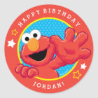 Sesame Street   Elmo - Polka Dot & Stars Birthday  Classic Round Sticker