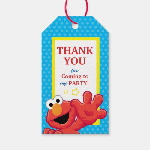Sesame Street   Elmo - Polka Dot & Stars Birthday Gift Tags
