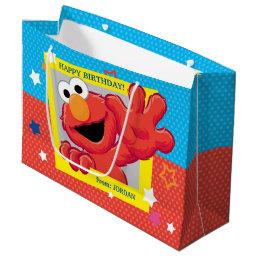 Sesame Street   Elmo - Polka Dot & Stars Birthday  Large Gift Bag