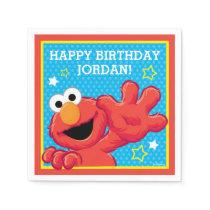 Sesame Street | Elmo - Polka Dot & Stars Birthday  Napkin