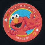 "Sesame Street | Elmo - Polka Dot &amp; Stars Birthday  Paper Plate<br><div class=""desc"">Celebrate your child&#39;s birthday with Sesame Street&#39;s most adorable muppet - Elmo! This little monster is friendly as can be. He has his paws outstretched and is ready to high five in this fun cartoon design. The cute character shines against a blue polka dot pattern complete with stars. Get these...</div>"