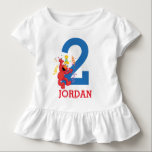 """Sesame Street   Elmo - Rainbow 2nd Birthday Toddler T-shirt<br><div class=""""desc"""">Customize this cute t-shirt design brought to you by Sesame Street. Featuring a little red monster called Elmo, this is the perfect party t-shirt for the birthday boy or girl, for kids of all ages. He loves to dance, tickle and eat cake. Well that sounds perfect for a smash hit...</div>"""