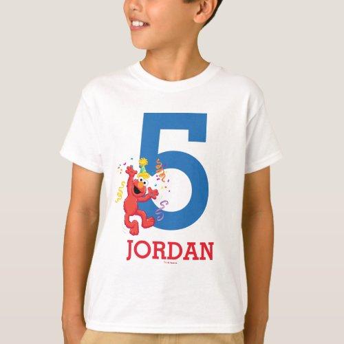 Sesame Street  Elmo _ Rainbow 5th Birthday T_Shirt