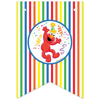 Sesame Street | Elmo - Rainbow Birthday Bunting Flags