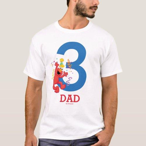 Sesame Street  Elmo _ Rainbow Birthday Dad T_Shirt