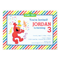 Sesame Street | Elmo - Rainbow Birthday Invitation