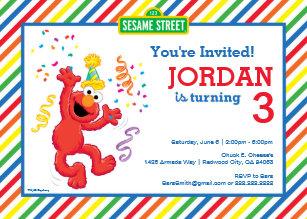 sesame street birthday invitations Sesame Street Birthday Invitations | Zazzle sesame street birthday invitations