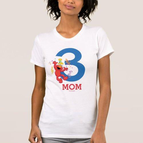 Sesame Street  Elmo _ Rainbow Birthday Mom T_Shirt