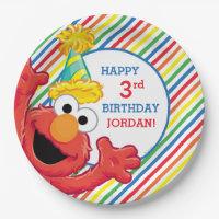 Sesame Street   Elmo - Rainbow Birthday Paper Plate