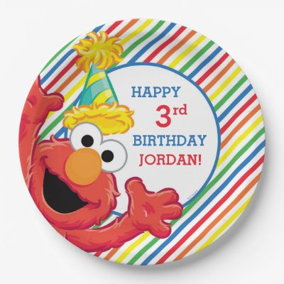 sc 1 st  Zazzle & Sesame Street | Elmo Girl\u0027s Birthday Paper Plate | Zazzle.com