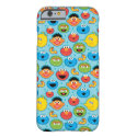 Sesame Street Faces Pattern on Blue Barely There iPhone 6 Case