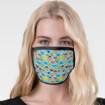 Sesame Street Faces Pattern on Blue Face Mask
