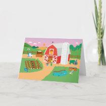 Sesame Street | Farm Scene Card