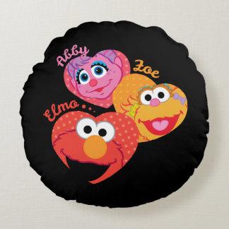 Sesame Street Friends Round Pillow
