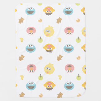 Sesame Street Furry Friends Character Pattern Receiving Blanket