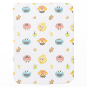 Sesame Street Furry Friends Character Pattern Swaddle Blankets