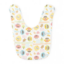 Sesame Street Furry Friends Pattern Baby Bib