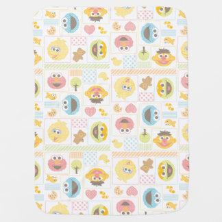 Sesame Street Furry Friends Pattern Swaddle Blanket
