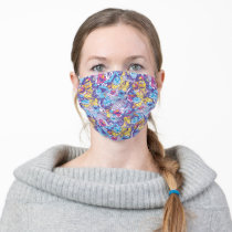 Sesame Street | Groovy Dance Pattern Adult Cloth Face Mask