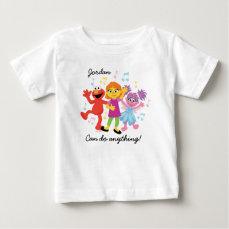 Sesame Street   Julia, Elmo & Abby Dancing Baby T-Shirt