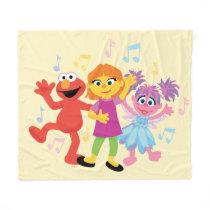 Sesame Street | Julia, Elmo & Abby Dancing Fleece Blanket