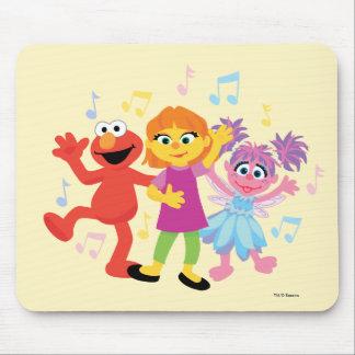 Sesame Street   Julia, Elmo & Abby Dancing Mouse Pad