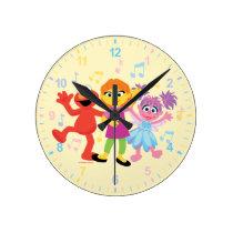 Sesame Street   Julia, Elmo & Abby Dancing Round Clock