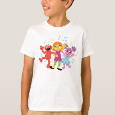Sesame Street   Julia, Elmo & Abby Dancing T-Shirt