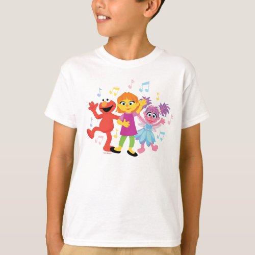 Sesame Street  Julia Elmo  Abby Dancing T_Shirt