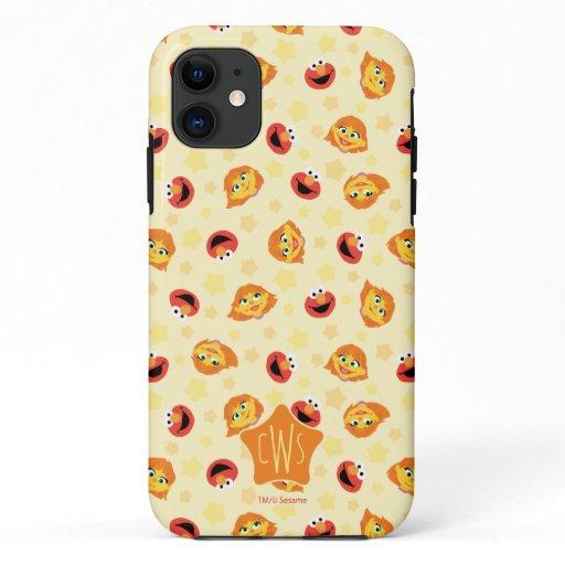 Sesame Street | Julia & Elmo Yellow Star Pattern iPhone 11 Case